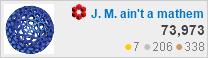 profile for J. M. at Mathematics